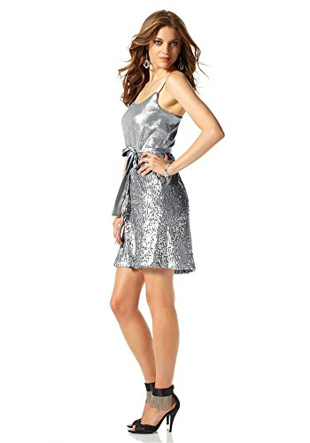 Paillettenkleid Evening Scott Laura Silber Damen-kleid
