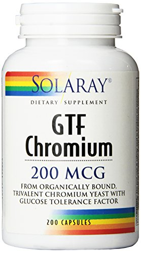 - Solaray GTF Chromium Capsules, 200 mcg, 200 Count