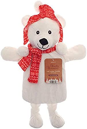 The Good Life CHILDRENS LARGE POLAR BEAR SOFT FLEECE COVER AND HOT WATER BOTTLE