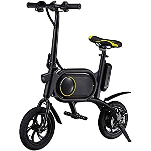 41qO Cg4FsL. SS300 Bici Elettrica, età Due Ruote Mini Pedal Electric Car Facile Folding And Carry Design con Data Display LCD Porta USB di…