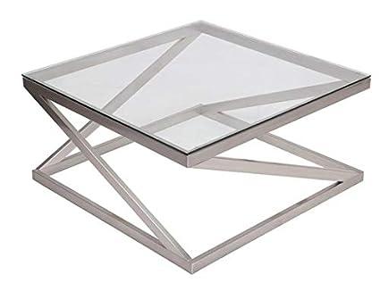 Square Coffee Table Glass Top.Amazon Com Metal Coffee Table With Glass Top Square Coffee Table