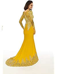 Amazon.com: Yellow - Special Occasion / Dresses: Clothing, Shoes ...