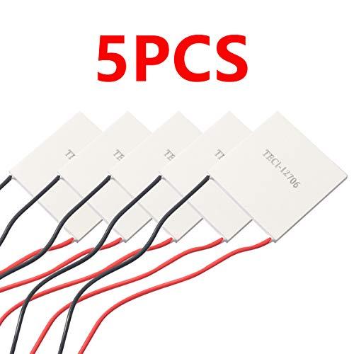 5pcs TEC1-12706 Heatsink Semiconductor Refrigeration Tablets 6A 12 Volt 60 Watt Thermoelectric Cooler Cooling Peltier Plate Module