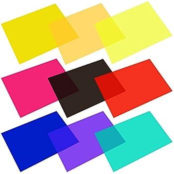 Amazon.com : eBoot 9 Pieces Gel Filter Transparent Color Film ...