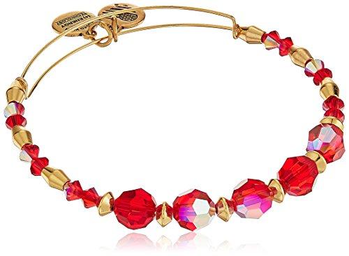 Alex and Ani Swarovski Crystal Beaded, Poinsettia Bangle Bracelet (Poinsettia Prices)