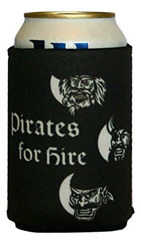 Pirate Theme Cozy, Pirates for Hire, Boaters gifts, Stocking Stuffers, Tiki Bar Accessories, Beer Lover (Army Costume Hire)