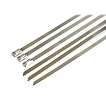 Pro Tie SS14N60 14-Inch Narrow Stainless Steel Cable Ties, 100-Pound Tensile Strength, 60-Pack,