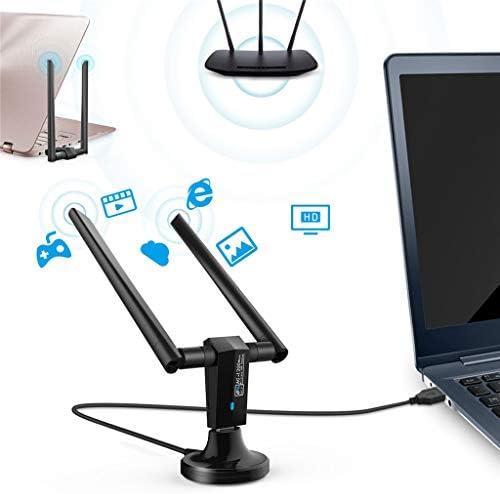BAOFU Cordon Adaptateur Fil Importé Antenne Adaptateur sans Fil USB 3.0 sans Fil à Double Bande de 2,4 GHz et 5 GHz à 1200 Mbps