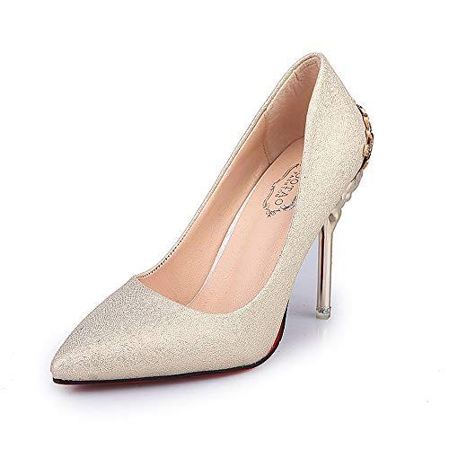 Jqdyl Zapatos de tacón Alto, nuevos y Solteros Zapatos de tacón de Aguja, Zapatos de tacón Alto y tacón Alto para Mujer
