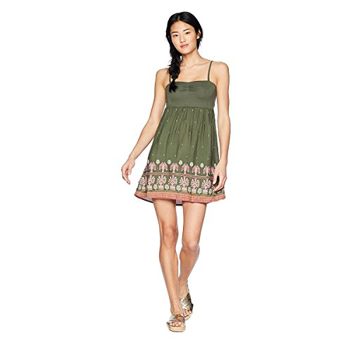 Tube Dress Juniors (Roxy Junior's Ocean Romance Dress, Thyme Perfect Wave Border, M)