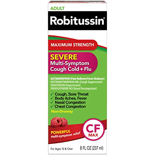 Robitussin Severe CF Maximum Strength Cough Cold amp Flu Medicine 8 fl oz Bottle