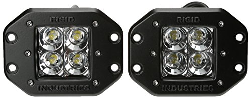 Rigid Industries 21211 Dually Floodlight Flush Mount, (Set of (1973 Ford F-250 Pickup)