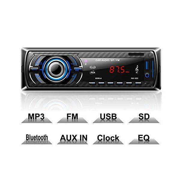 41qO1kg9nFL. SS600 - Hoidokly Car Radio with Bluetooth Hands-Free Kit - 4 x 60W Digital Media Receivers - FM / USB / MP3 Media Player - Wireless Remote Control Included