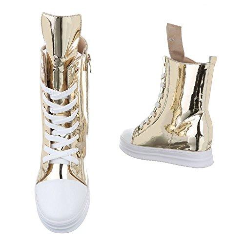 Ital-Design - Zapatillas altas Mujer dorado