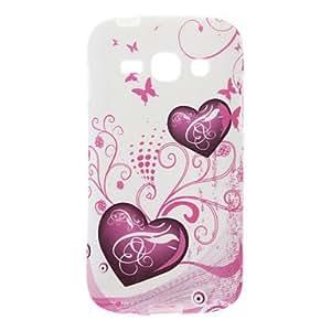 Love-en forma de corazón del patrón TPU suave de la cubierta posterior para Samsung Galaxy ACE S7272 3