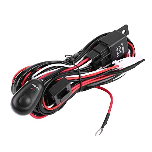 Car Wiring Harness, Car Power Switch and Wiring Harness Kit for LED Light Bar (#1):