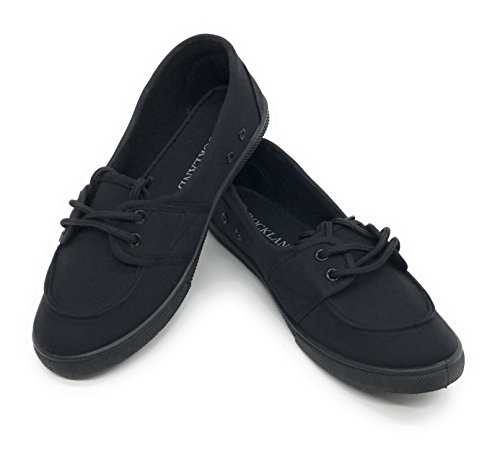 All Black School Shoes - 3