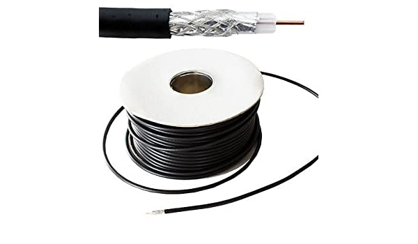 Generic Freevi® - Bobina de cable para TV de 50 m para exteriores, coaxial ab, antena de satélite, cable coaxial R RG6: Amazon.es: Electrónica