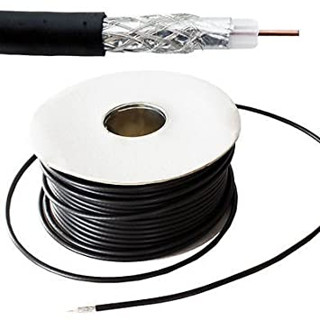 Generic Freevi® - Bobina de cable para TV de 50 m para exteriores, coaxial