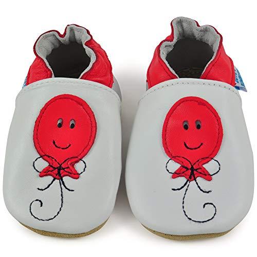 3ea80b76a00 Globo Zapatitos 6 12 Niño Zapatos Bebé Niña Patucos Cuero 6 18 Meses Rojo 18  Infantiles Zapatillas ...