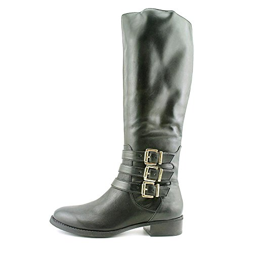 Calf INC Black Francy Boots Leather Wide Knee Women's High RPfFwqv