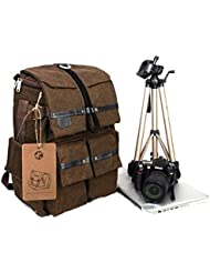 BESTEAM Waterproof Canvas DSLR SLR Camera Laptop Backpack Bag Rucksack For Cannon Nikon Apple Asus Lenovo 45x18x30cm...
