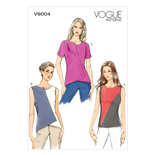 Vogue Patterns V9004 Misses' Top Sewing Template, Size A5 (Vogue Patterns Tops)