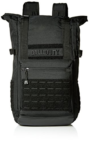 Duty Roll - Bioworld Men's Call of Duty Black Military Roll Top Backpack W/Laser Cuts