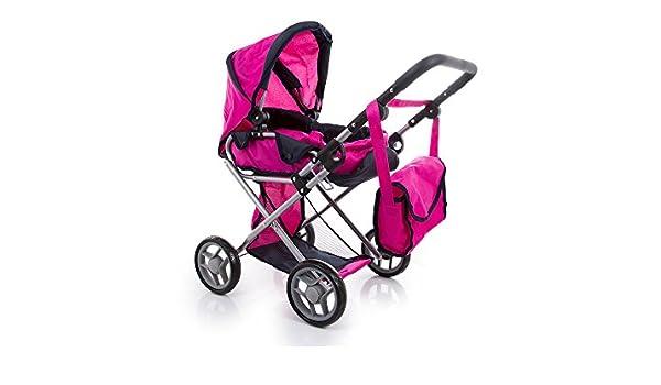 Amazon.es: Kinderplay Cochecito para muñeca con bolsa, color rosa (KP0200A): Juguetes y juegos