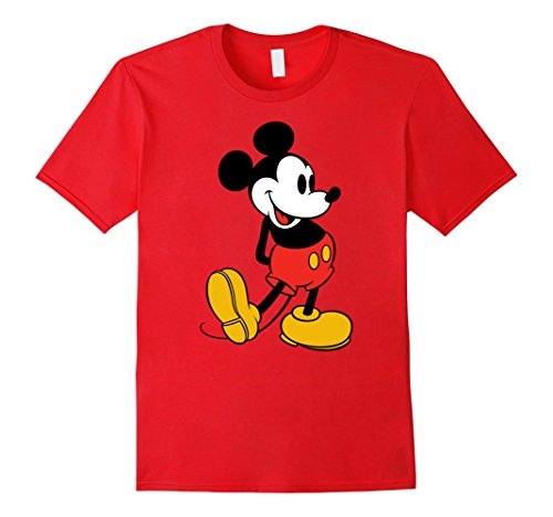 Mens Disney Classic Mickey Mouse T-Shirt Large Red