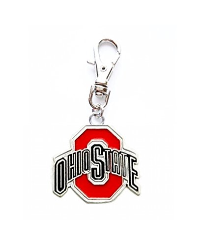 (Heavens Jewelry OSU Ohio State University Buckeyes Charm ADD to Zipper Pull, PET Dog CAT Collar, Leash, Keychain, ETC.)