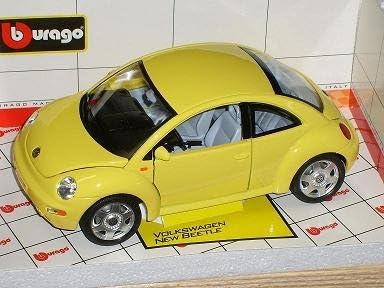 Bburago Volkwagen New Beetle Gelb 2000 1//18 Burago Modellauto Modell Auto