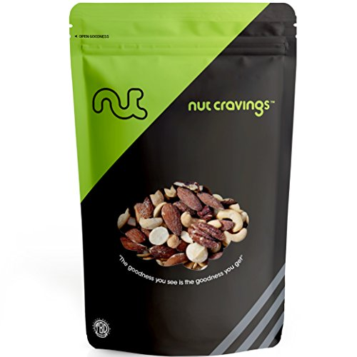 Nut Cravings Extra Fancy Mixed Nuts - Roasted & Salted (4 Ounce) - In Resealable Bag - SAMPLER ()