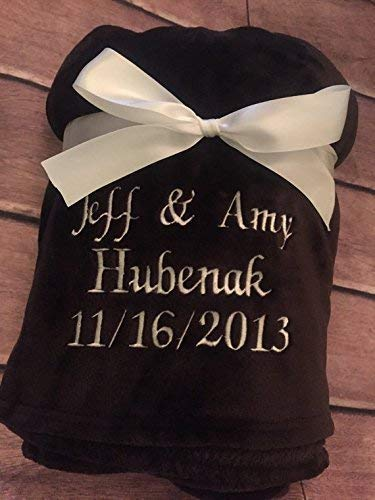 Personalized Plush Throw Blanket by Wedding