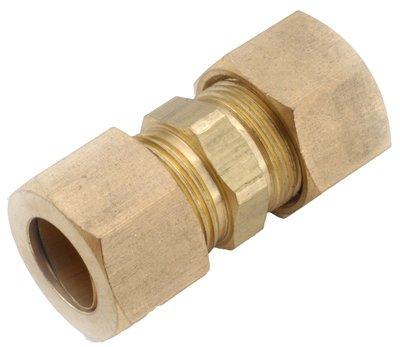 Anderson Metals 750062-03 Compression Full Union, Brass, 3/16-In. - Quantity 10
