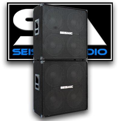 Seismic Audio - Pair of 412 GUITAR SPEAKER CABINET 800 Watts FULL STACK COMBO PRO (412 Guitar Speaker Cabinet)