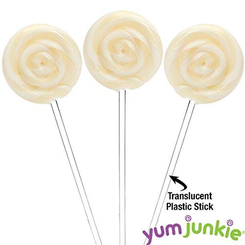 White Swipple Pops Petite Swirl Ripple Lollipops - Pineapple: 60-Piece Tub