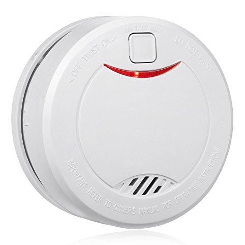10 Year Battery Smoke Detector Fire Alarm with Photoelectric Sensor
