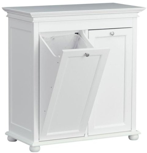 Hampton Bay 26 Inch White Double Tilt Out Bathroom Hamper, 2