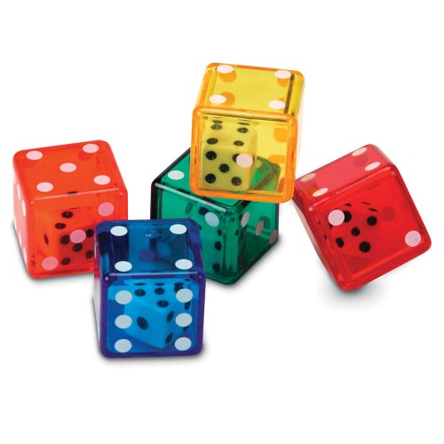 Learning Resources Dice In Dice Bucket, Math Toy, Manipulative, Set of 72, Ages ()