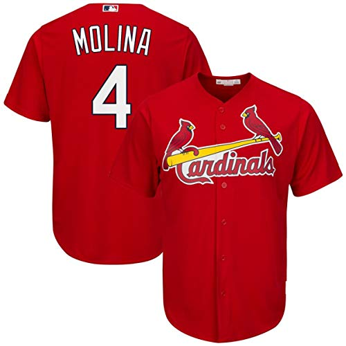- Men's #4 Yadier Molina St. Louis Cardinals Cool Base Player Jersey