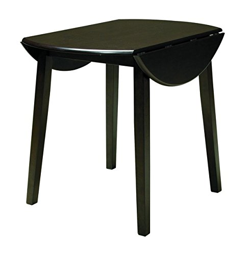 nature Design - Hammis Dining Room Table - Drop Leaf Table - Dark Brown (Contemporary Drop Leaf Table)