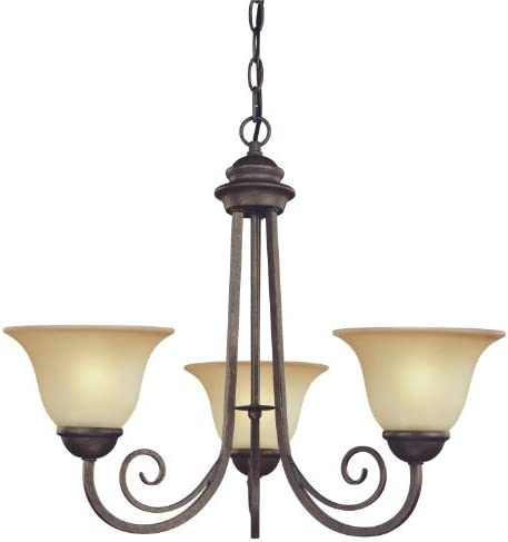 Westinghouse Lighting 6658700 Three Light Interior Chandelier Ebony Bronze Finish