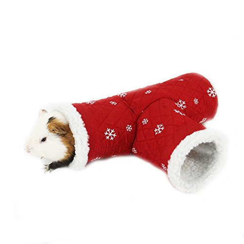 Guinea Pigs In Christmas Costumes (Mummumi Small Pet Holiday and Christmas Hat, Puppy Dog Santa Hat Costume Christmas Collection Pet Accessories For Cat Rabbit Hamster Guinea Pig, Small, Red (L))