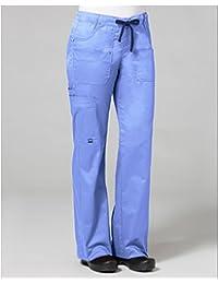 Blossom by Maevn Women's Utility Cargo Scrub Pant XXXX-Large Ceil Blue/Navy
