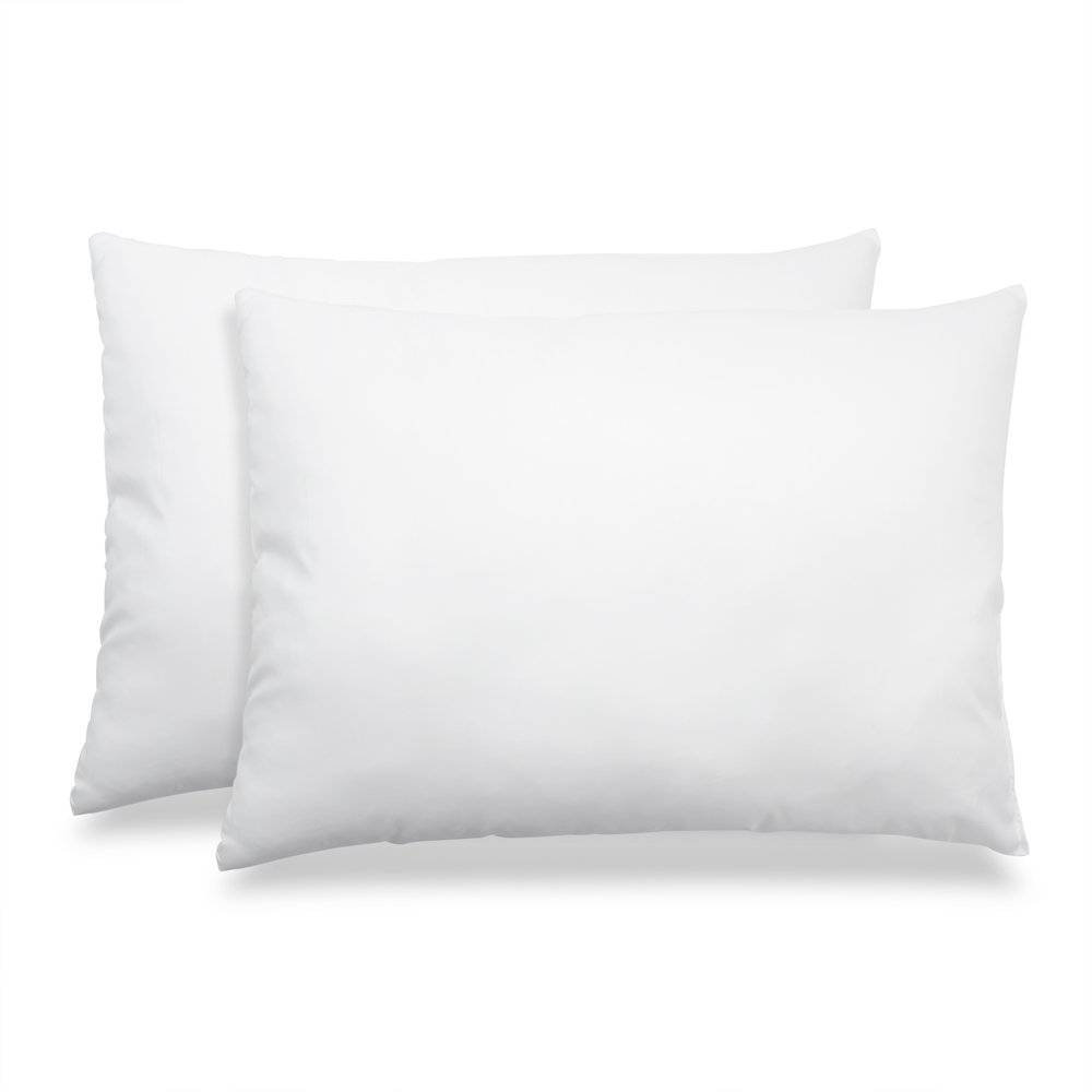 Hypoallergenic Down & Feather Fill Stomach Sleeper's Delight Pillow - King Size Pillow, Set of 4
