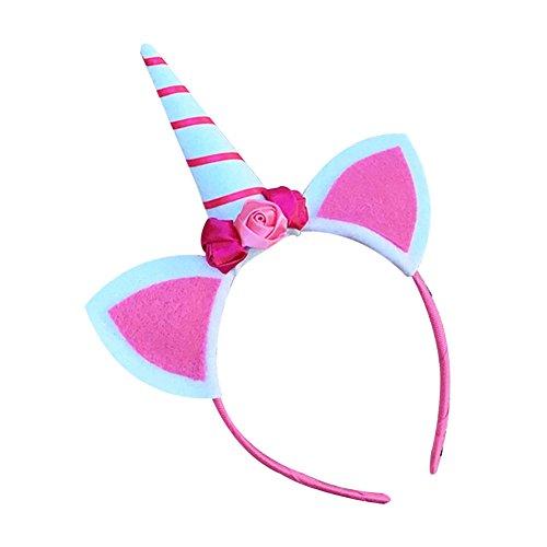 Song Qing Cat Ear Unicorn Headwear Children Girls Fancy Dress Party Halloween Headband -