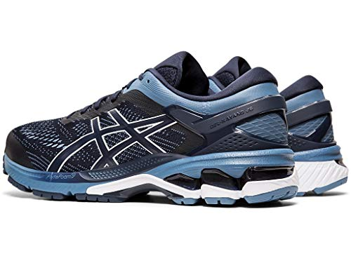ASICS Men's Gel-Kayano 26 Running Shoes, 12M, Midnight/Grey Floss