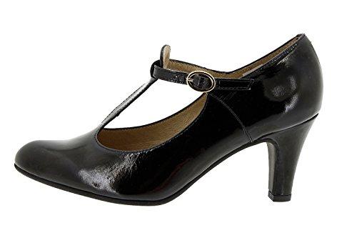 Piesanto Modelo 5207 - Zapato señora piel, confort, pies delicados, plantilla extraíble, anchos especiales, zapatos cómodos negro
