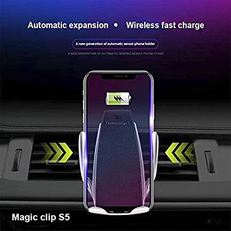 BUTTLE Infrared Penguin Sensitive Smart Automatic Fast Car Charger 10W//7.5W//5W Qi Fast Wireless Charger for iPhone XR XS Max X 8 8 Plus,10W Fast Chargeing for Samsung S9+,S7//S7 Edge,Note 9